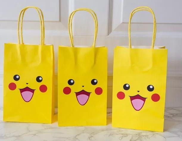 fcfb477ee Bolsas para Niños Pikachu Cumpleaños Plantilla Gratis