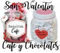 Frascos de Cafe y Chocolates para San valentin