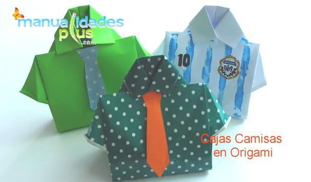 cajas camisas origami