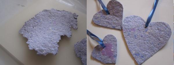 corazones papel reciclado dia san valentin 2