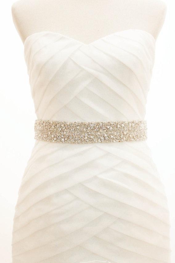 Cinturon vestido boda
