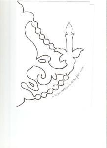 plantilla candelabro papel