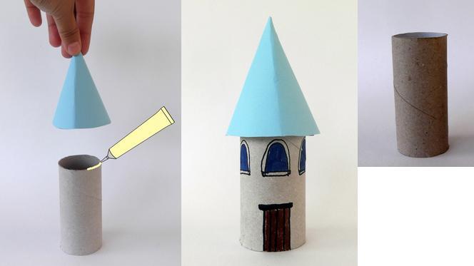 castillo con rollos de carton 3
