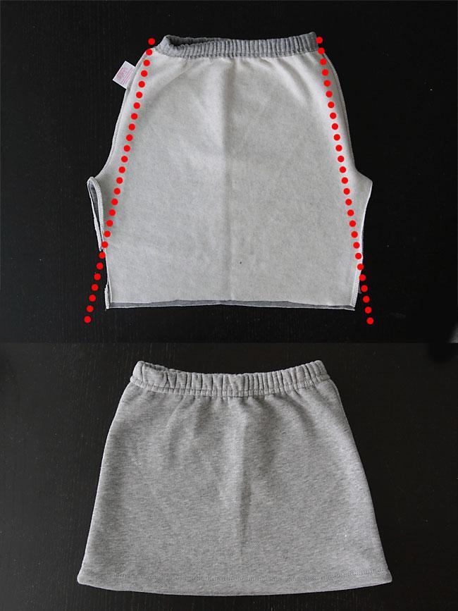 coser falda con un pantalon 2