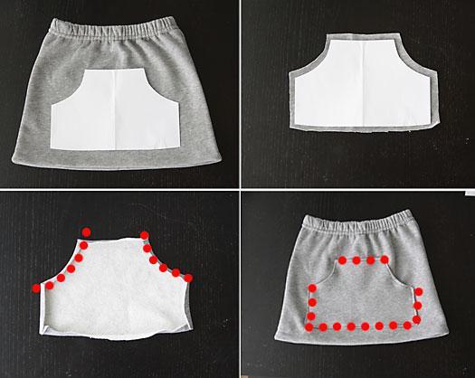 coser falda con un pantalon 3