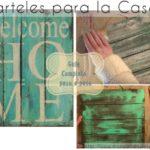 manualidades para casa hogar decoracion casa cartel