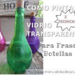 manualidades botellas frascos
