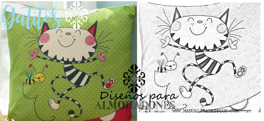 almohadones gatos
