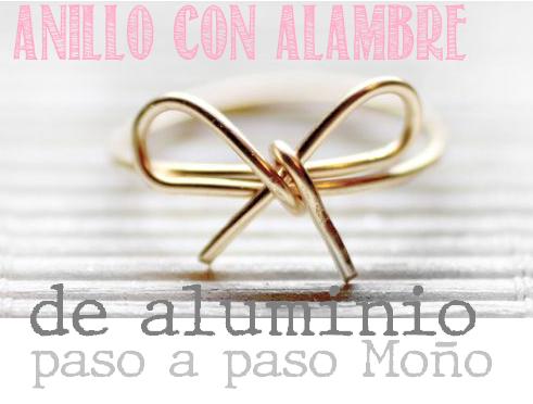 anillo alambre aluminio monio