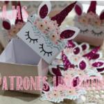 patrones cajas unicornio