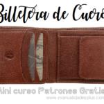 billetera cuero patrones