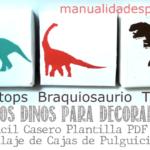 cuadros dinosaurios stencil