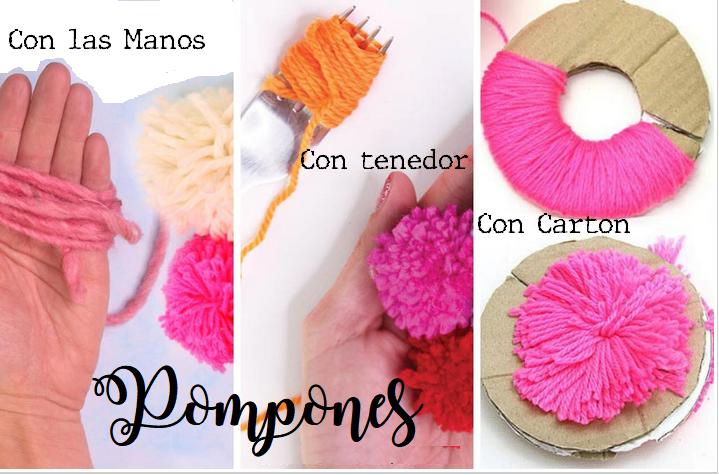 3 formas de hacer pompones
