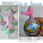 frascos souvenirs sirenita