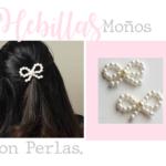 hebillas moños perlas