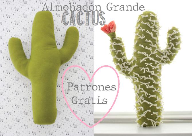 patrones almohadon cactus
