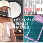 PATRONES molde mascara facial antiviral