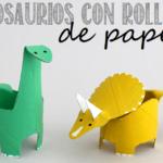 dinosaurios con rollos de papel